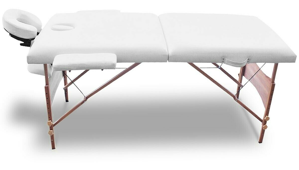 White massage table